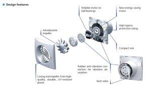 Fanco 'Quiet 150' Silent 2 Speed Exhaust Fan  White 150mm
