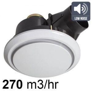luna pro ceiling exhaust fan round white 200