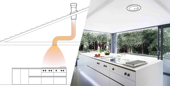 kitchen exhaust fan ceiling roof