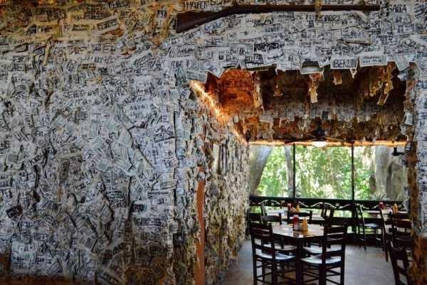 money wall in restaurant in Cabbage Key