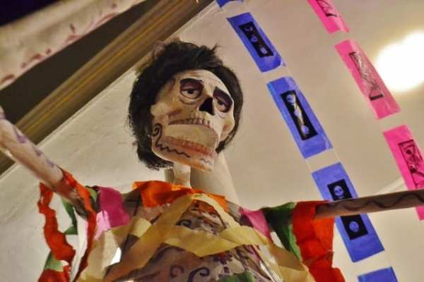 skeleton at Day of the Dead in Mazaltan, Mexico