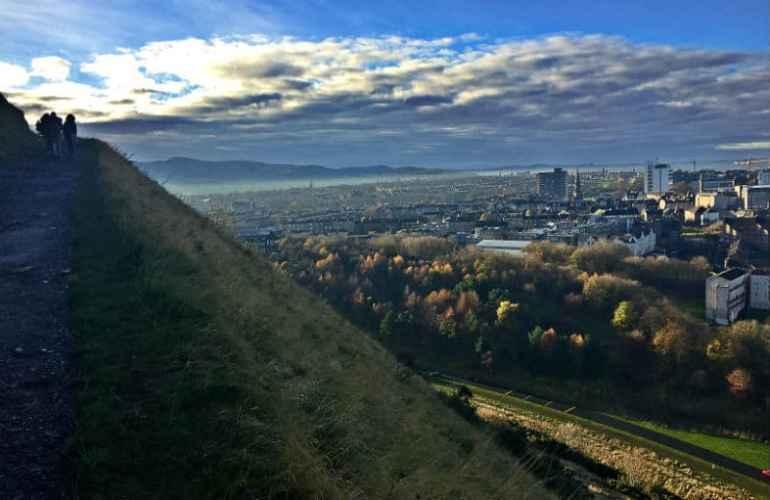 trail on arthurs seat edinburgh scotland eileen cotter wright