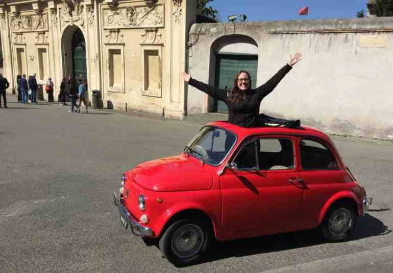 fiat 500 vintage rome italy eileen cotter wright