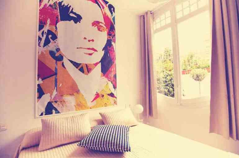 Where to Stay in Rome retrome hotel rome italy room sunlight and mural