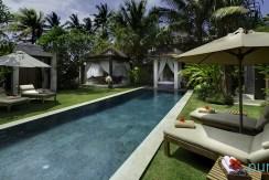 02-Majapahit Beach Villas - Villa Raj - Garden, pool and bale