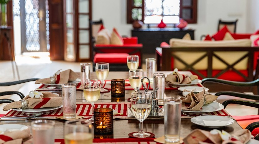 No. 39 Galle Fort Villa - Dining Table