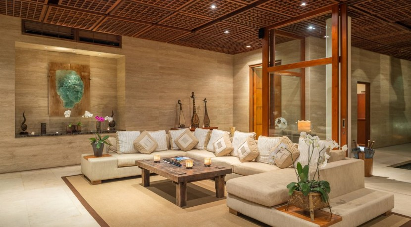 Villa Bidadari Cliffside Estate - Living Room Area