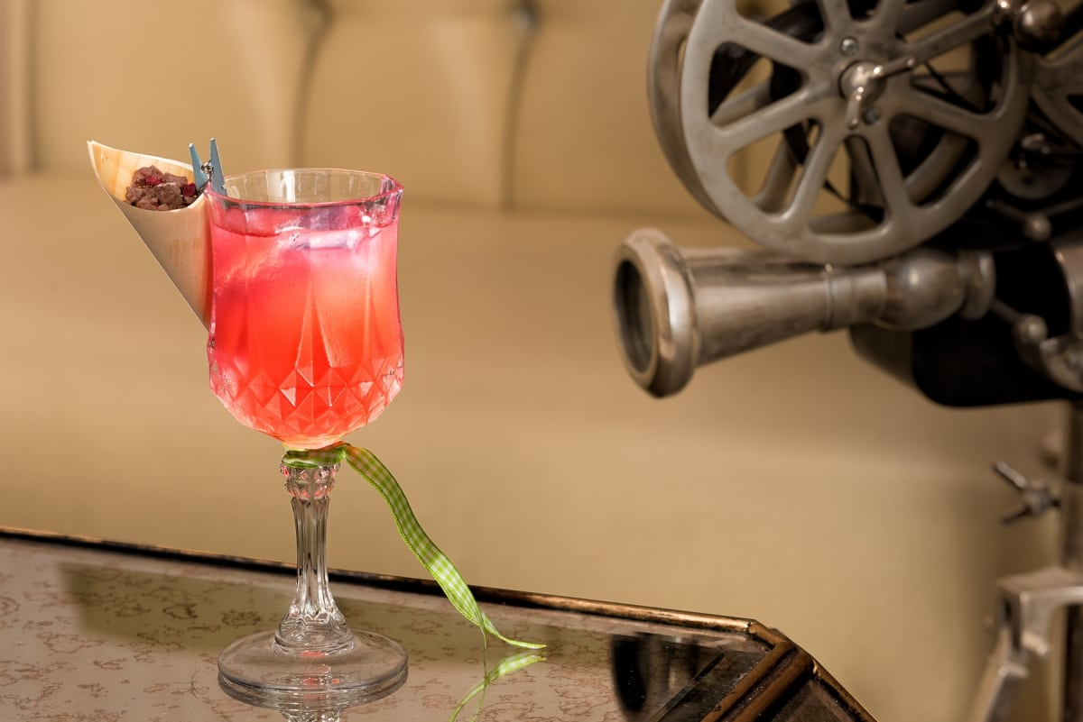 cocktail with garden flavours and ingredients
