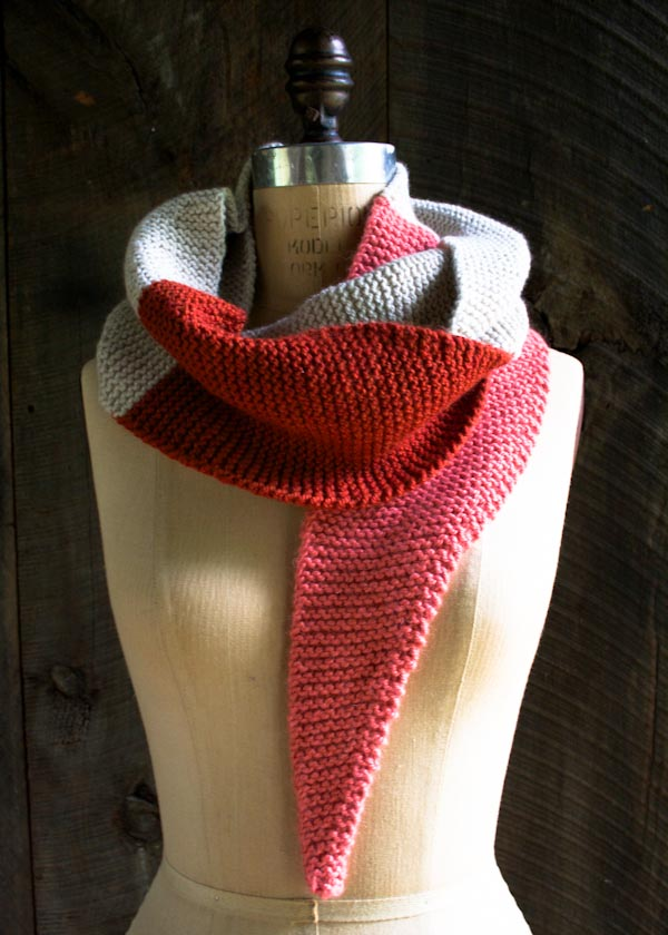 Color Tipped Scarf In New Colors New Yarns Purl Soho