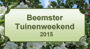 Poster Beemster Tuinenweekend 2015