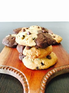 Chocolate chip and brownie cookie