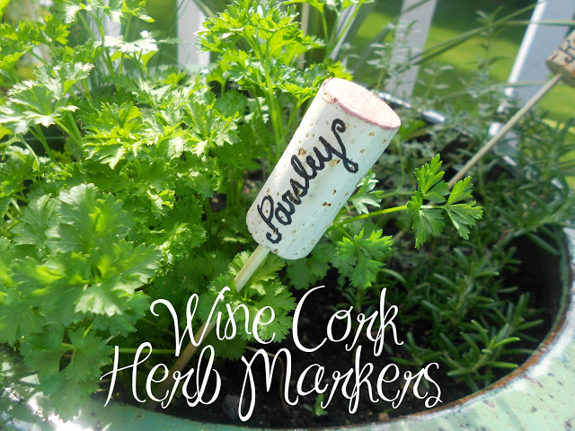 Wine Cork Herb Markers from Shine Your Light