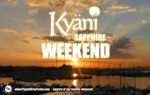 Lila News: Kyäni Sapphire Wochenende angekündigt