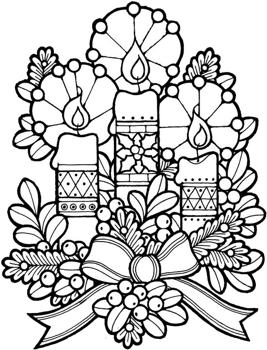 free coloring pages of christmas hard
