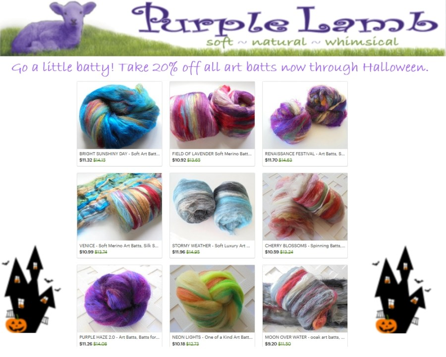Go a Little Batty 20% off art batts halloween sale