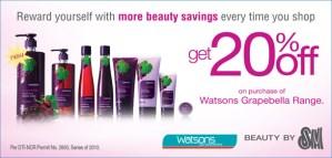 Watsons Grapebella Promo