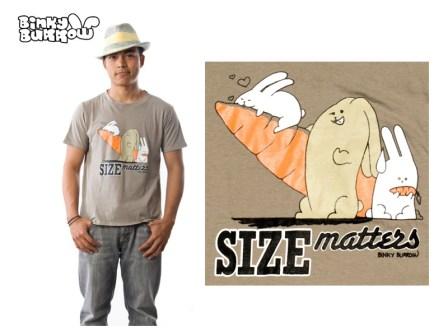 Binky Burrow - Size Matters shirt