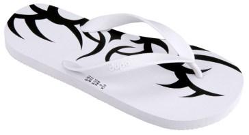 Dupe Slippers - Tatuagem_White