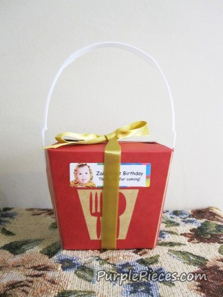21 - Chinese Take Out Box - Birthday Party Favor