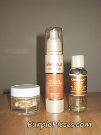 Celeteque Advanced Anti-Aging Cleansing Oil-Moisturizer-Serum