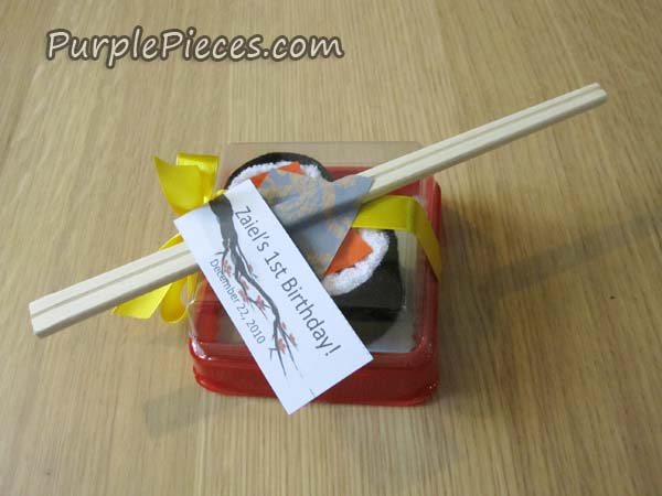 Japanese Towel Cake Recipe: Sushi Towel Party Favors By Thoughtful Creations