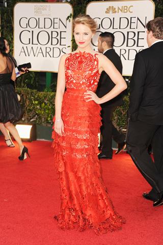 Dianna Agron - Golden Globes 2012