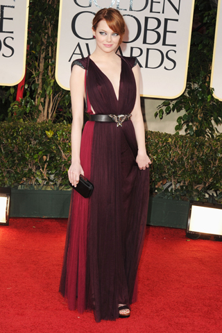 Emma Stone - 69th Golden Globe Awards