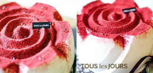 Tous Les Jours - Rose Inspiration Fresh Cream Cake