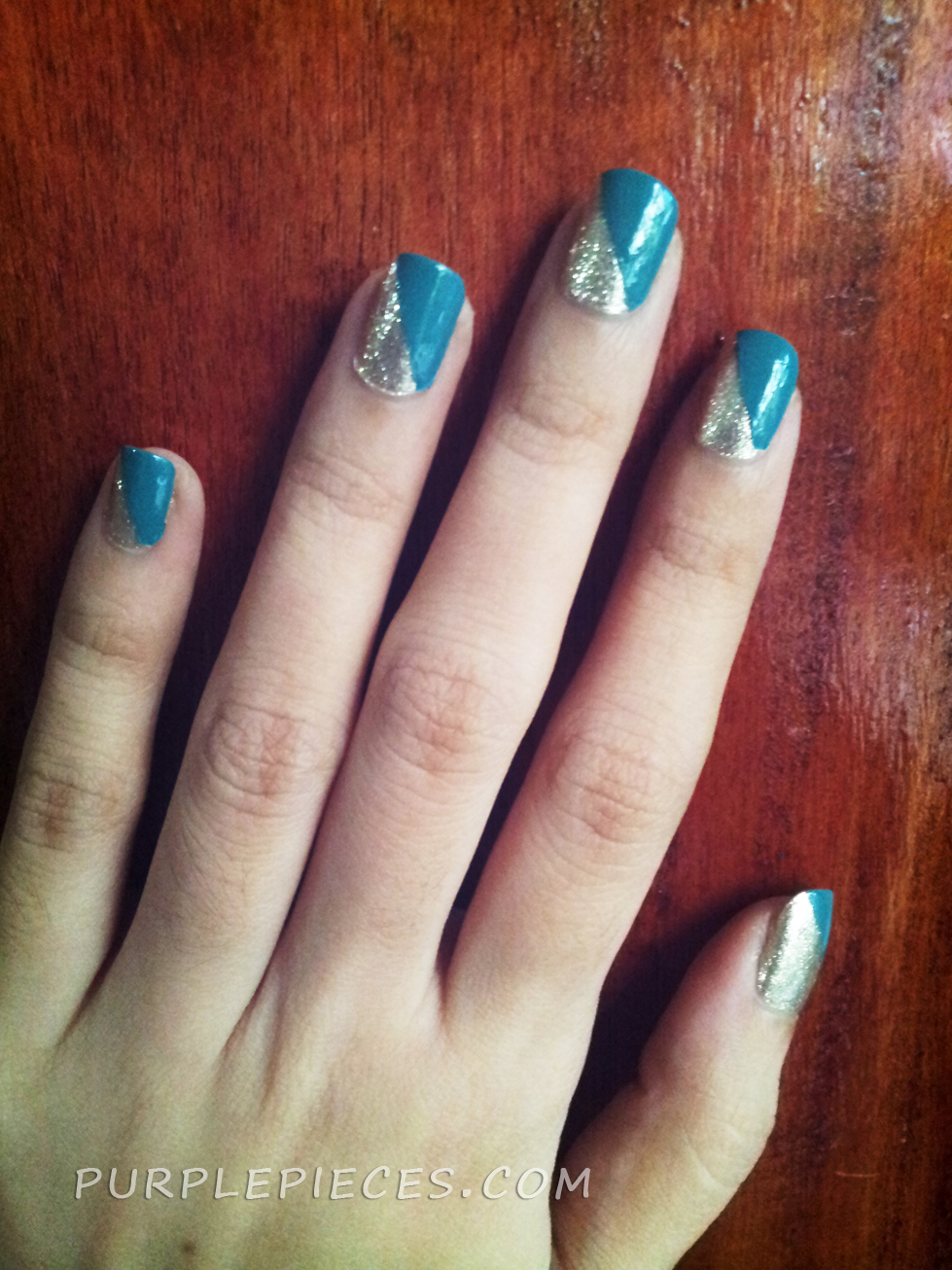 Simple Nail Art Using Scotch Tape