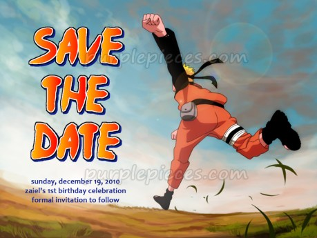 Naruto Birthday Save The Date