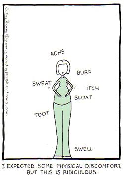 Cartoon pregnant