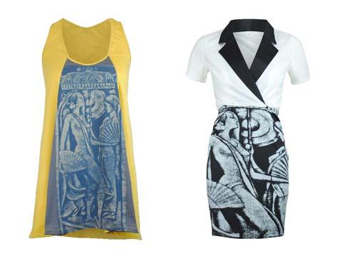Freeway  X Botong Razor Back Top - Collar Twofer Dress
