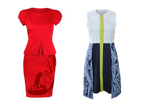 Freeway x Botong Peplum Dress - Colorblock Dress