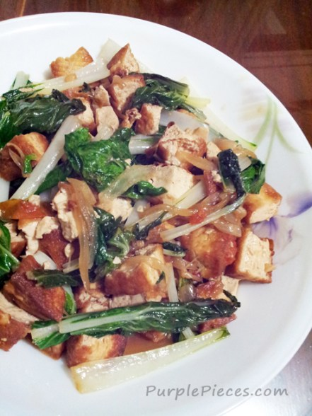 Ginisang Pechay at Tokwa recipe