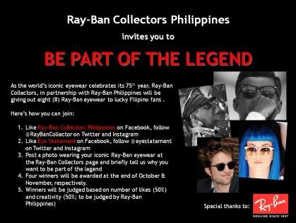 Rayban Giveaway 75 years