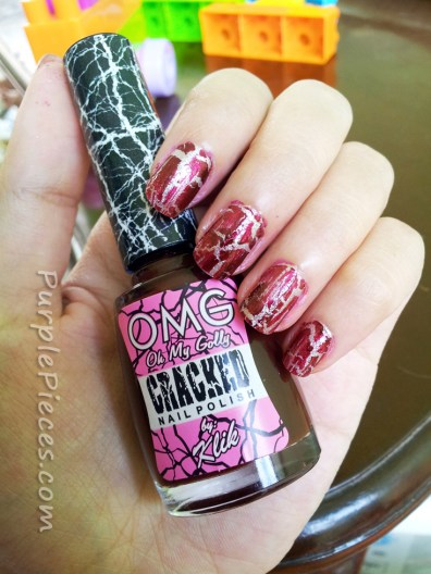 OMG Cracked Nail Polish by Klik - Maroon