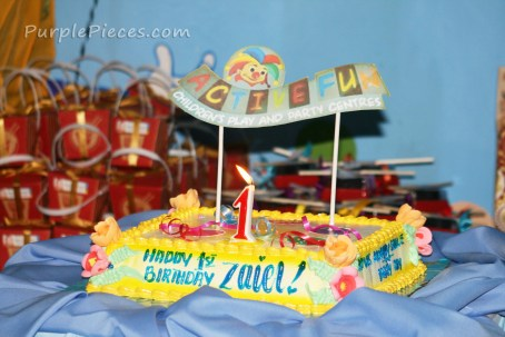 Active Fun birthday cake
