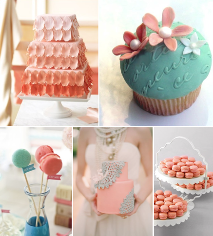 coral-turquoise-wedding-cakes