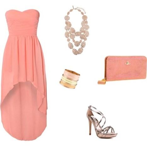 Peach Mullet Dress