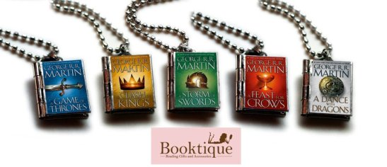 Booktique Game of Thrones Book Lockets