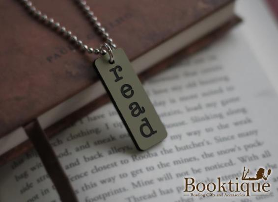 Booktique Read Necklace