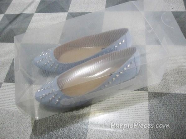 Clear shoe box storage