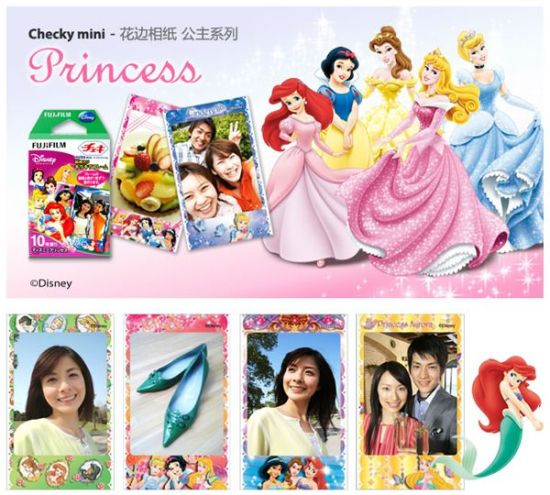 Instax Mini Film Disney Princess Designs