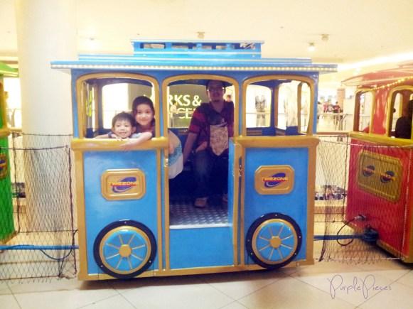 Train Ride for Kids in Trinoma