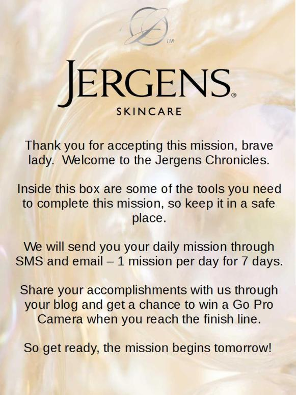 Jergens 7 Day Challenge Welcome Note