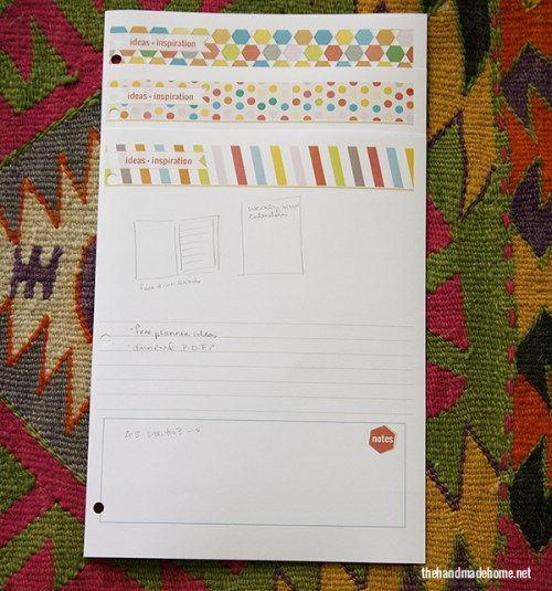 Free Planner Notes Page - Free Printable
