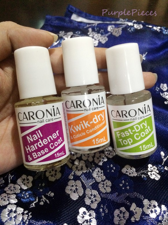 Caronia Nail Care Set - Nail Hardener and Base Coat - Kwik Dry and Cuticle Conditioner - Fast Dry Top Coat