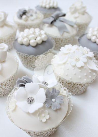 Silver Cupcakes Wedding