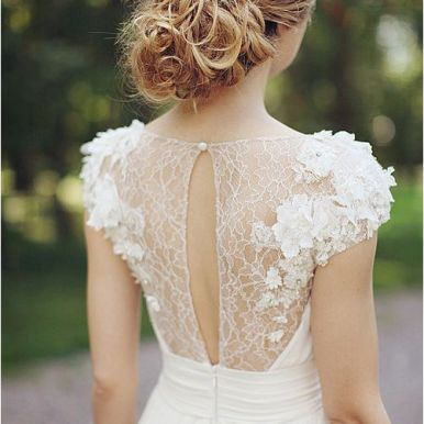 White Wedding Dress Back Details