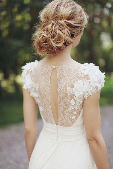 White Wedding Dress Back Details